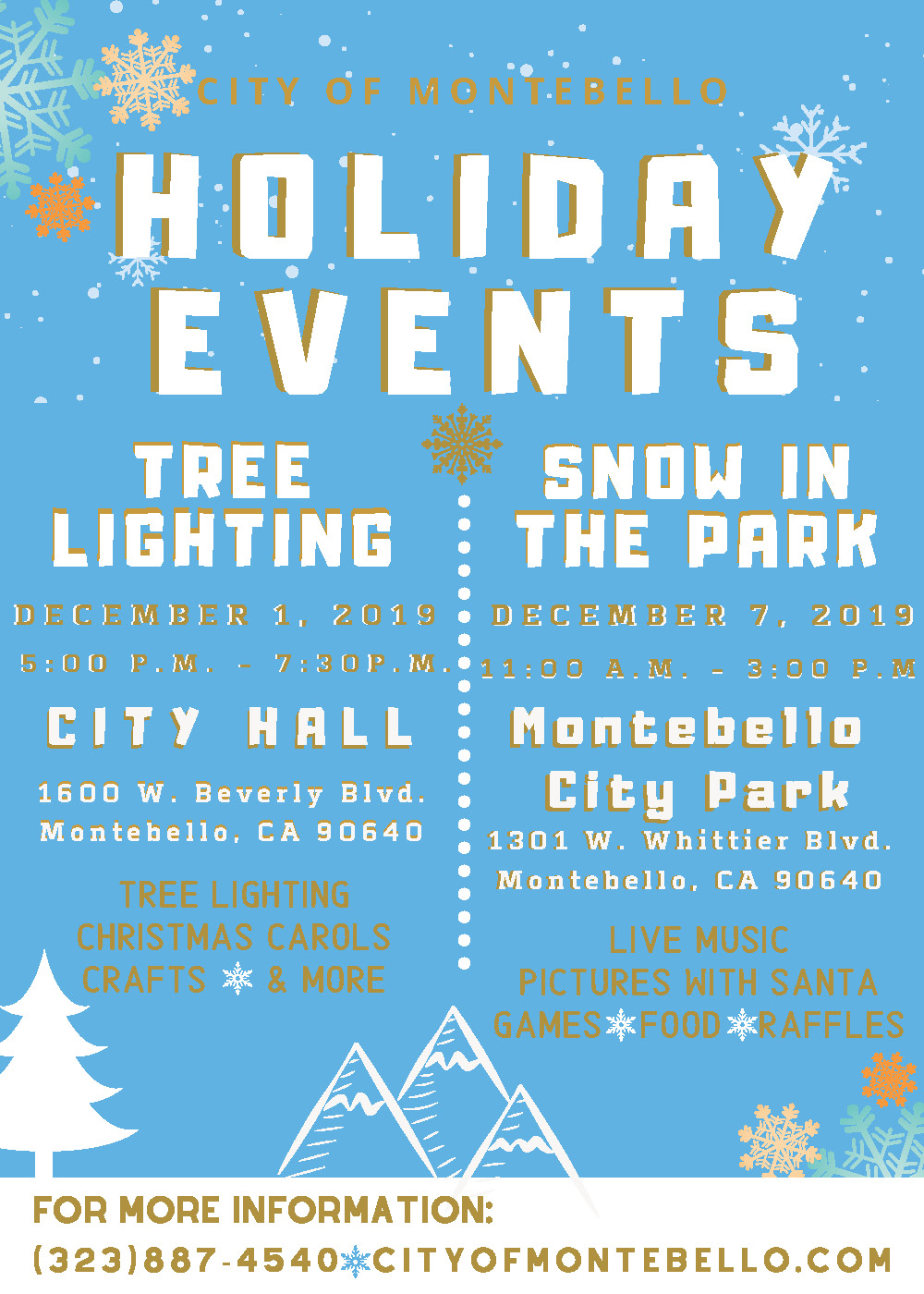 Holiday Events Flyer